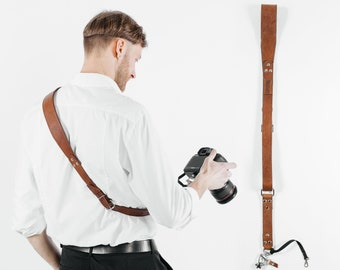 Leather Camera Strap, Leather Strap for Camera, Leather Sling Strap, Gift For Photographer, Leather Film Sling, Sling Strap, Camera Strap