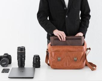 Leather Camera Bag, Camera Bag, Camera Case, Leather Messenger Bag, Crossbody Bag, Messenger Bag, Leather Camera Case, Camera Shoulder Bag