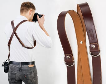 Dual Cameras Strap, Two Cameras Harness, Two Cameras Strap, Photographer Harness, Cameras Harness, Cameras Straps, Photographer Strap