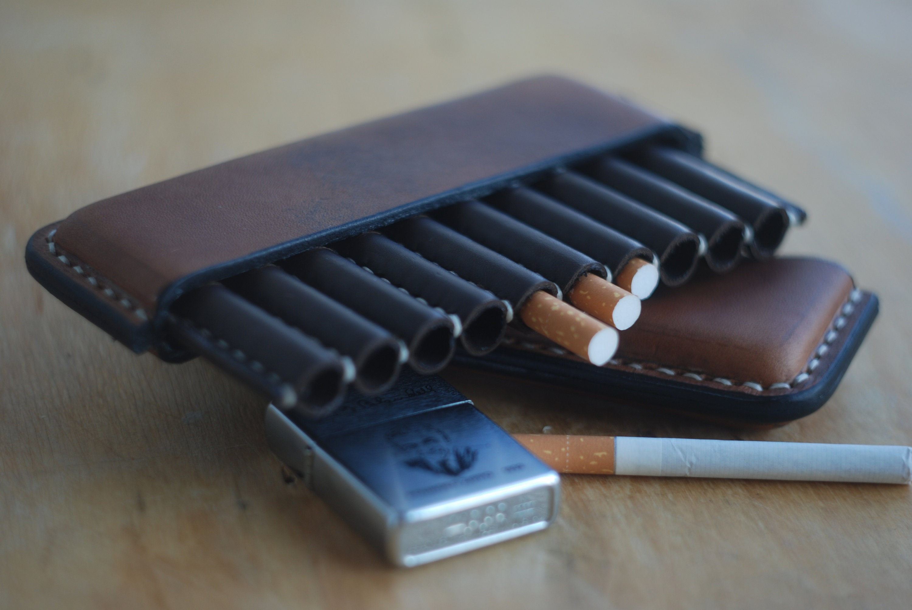 premium selection d6b43 91007 Leather cigarette case, smoking men accessories, cigarette case wallet,  smoker gift, brown cigarette box holder, father husband brother gift