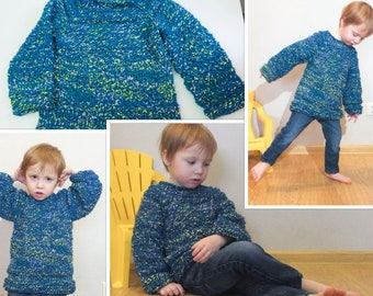 Knitting pattern Sea nest seamless raglan for children 80/1y-110/5y