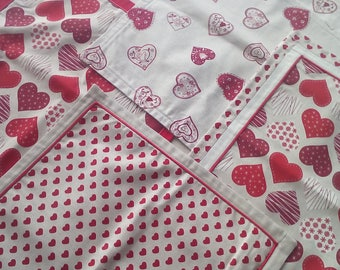 Red pillow covers - set of 4