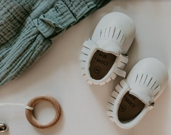 c5249dad819 White baby moccasins