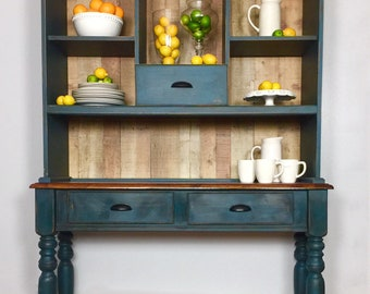 8a414642f04 Farmhouse vintage Hutch distressed furniture modern farmhouse  cabinet kitchen Coffee Station