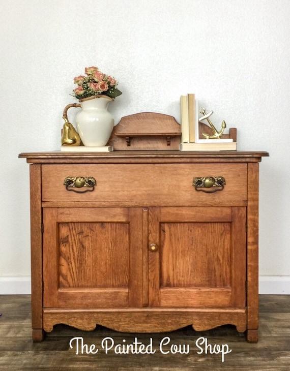 Antique Dry Sink Wood Furniture, Wash Stand, Kitchen Cabinet, Victorian  Cabinet