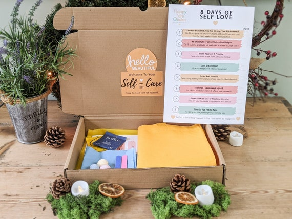 Self Care Gift Box, Self Care Kit For Self Love, Care Package for Her, Friend or Family Member
