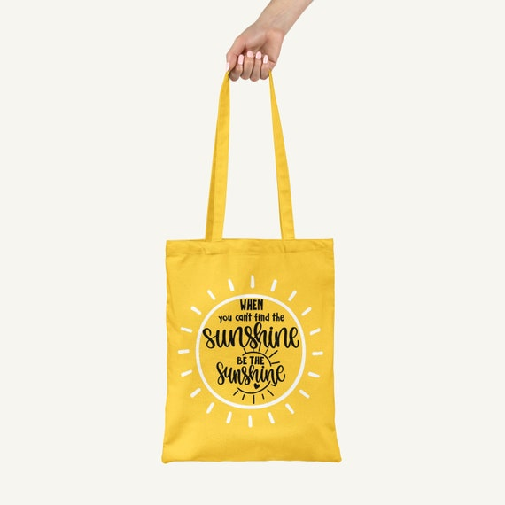 Be The Sunshine - A Positive Personalised Eco Friendly Vegan Tote, Cotton Shopper Bag ,Reusable Tote Bag, Unique Gift Bag, Letterbox Gift