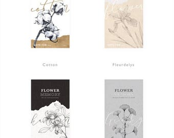 Retro Style Notepads Flower Series