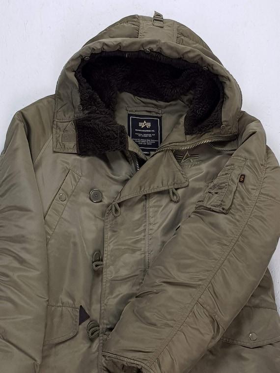 online retailer c7651 114f9 ALPHA INDUSTRIES N3B Parka Winter Coat military year 90 Vintage sand size S