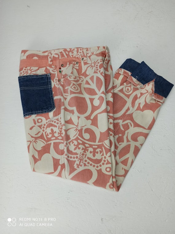 MOSCHINO JEANS 90s Vintage High Waist Pants, Pink… - image 1
