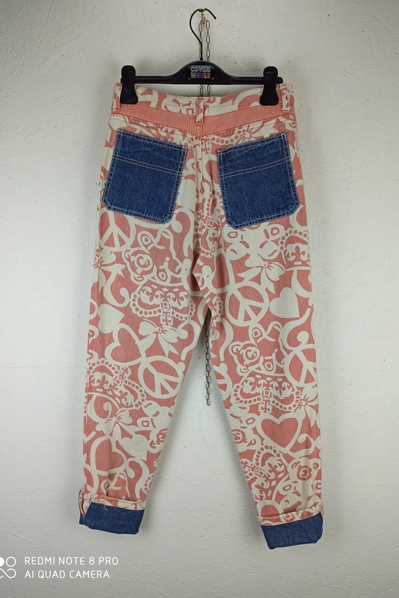 MOSCHINO JEANS 90s Vintage High Waist Pants, Pink… - image 3
