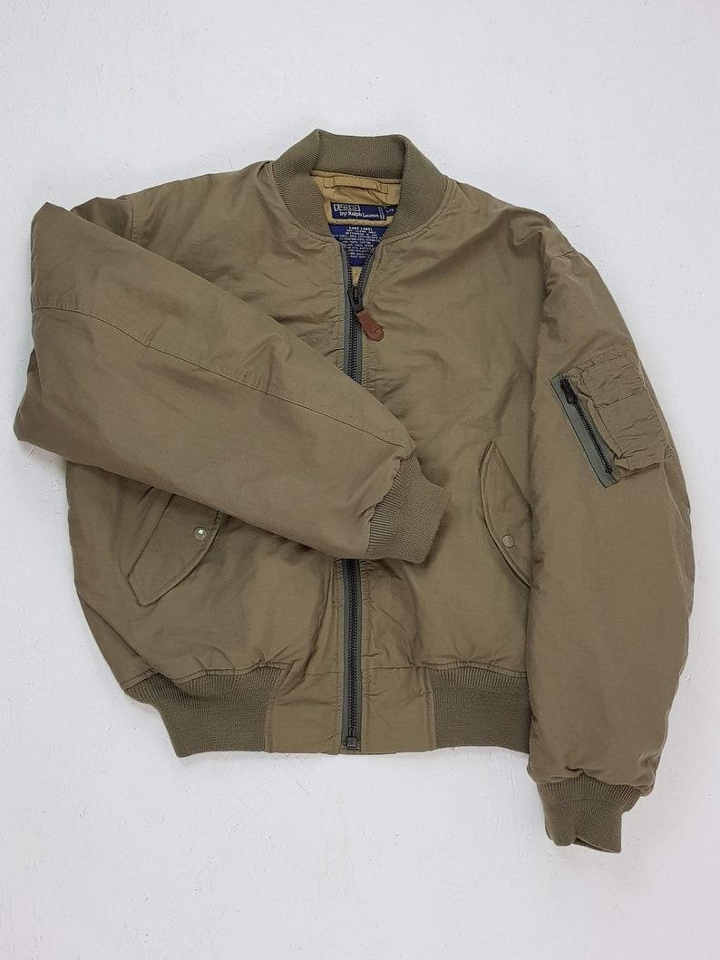 Green Bomber L Lauren Ralph Military Vintage Size Year Polo Jacket 90 CBrtshQdx