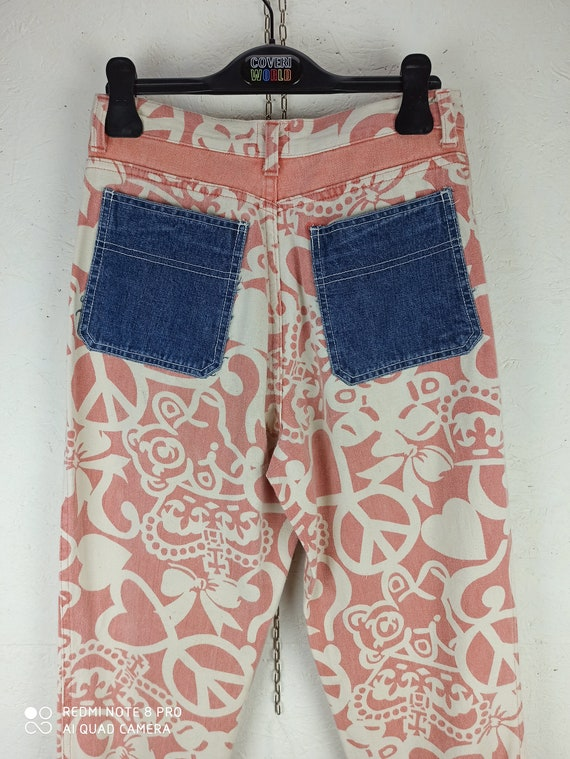 MOSCHINO JEANS 90s Vintage High Waist Pants, Pink… - image 2