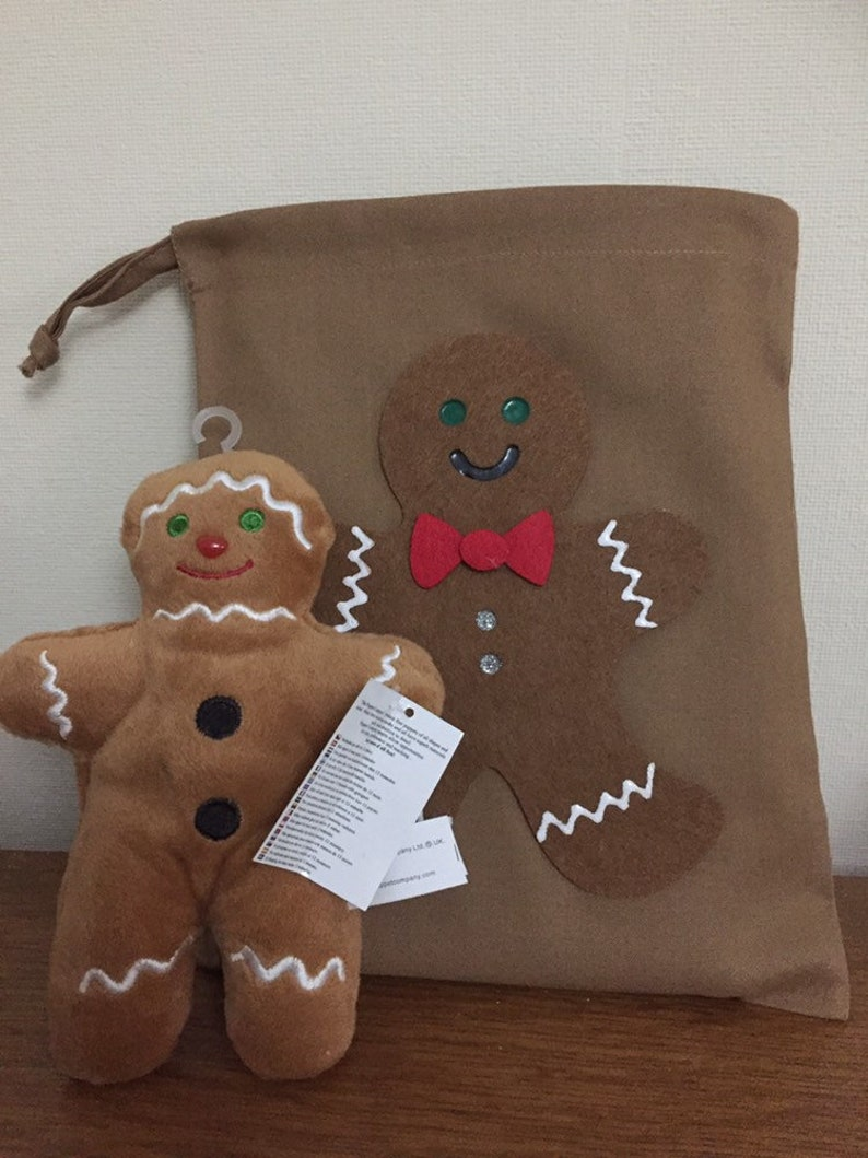 Gingerbread Man mini sack and walking Gingerbread Man puppet