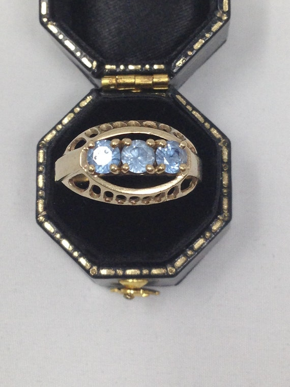 Antique 9ct Gold Topaz Ring. Size 8 1/2. - image 2