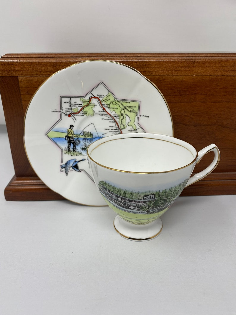 Taylor /& Kent Three Valley Motel Teacup and Saucer.
