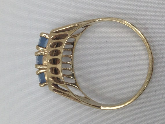Antique 9ct Gold Topaz Ring. Size 8 1/2. - image 6
