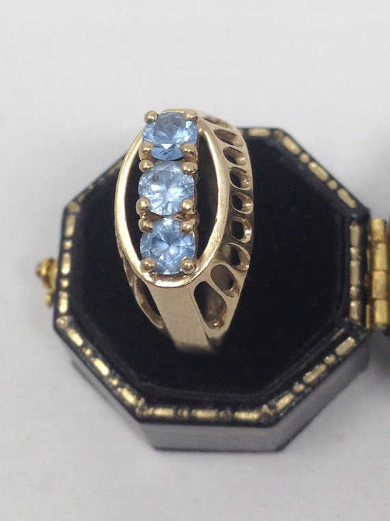Antique 9ct Gold Topaz Ring. Size 8 1/2. - image 3