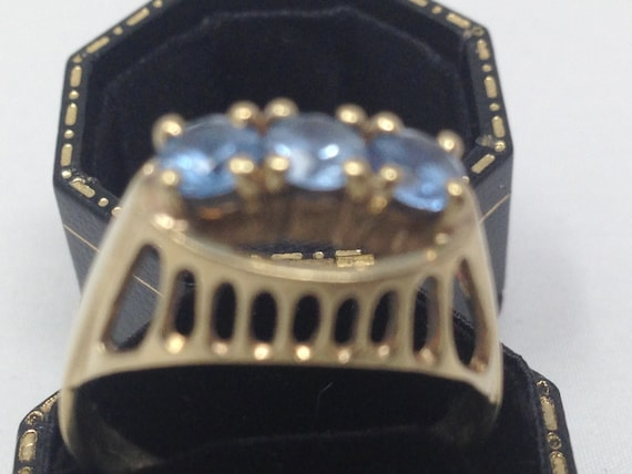Antique 9ct Gold Topaz Ring. Size 8 1/2. - image 4