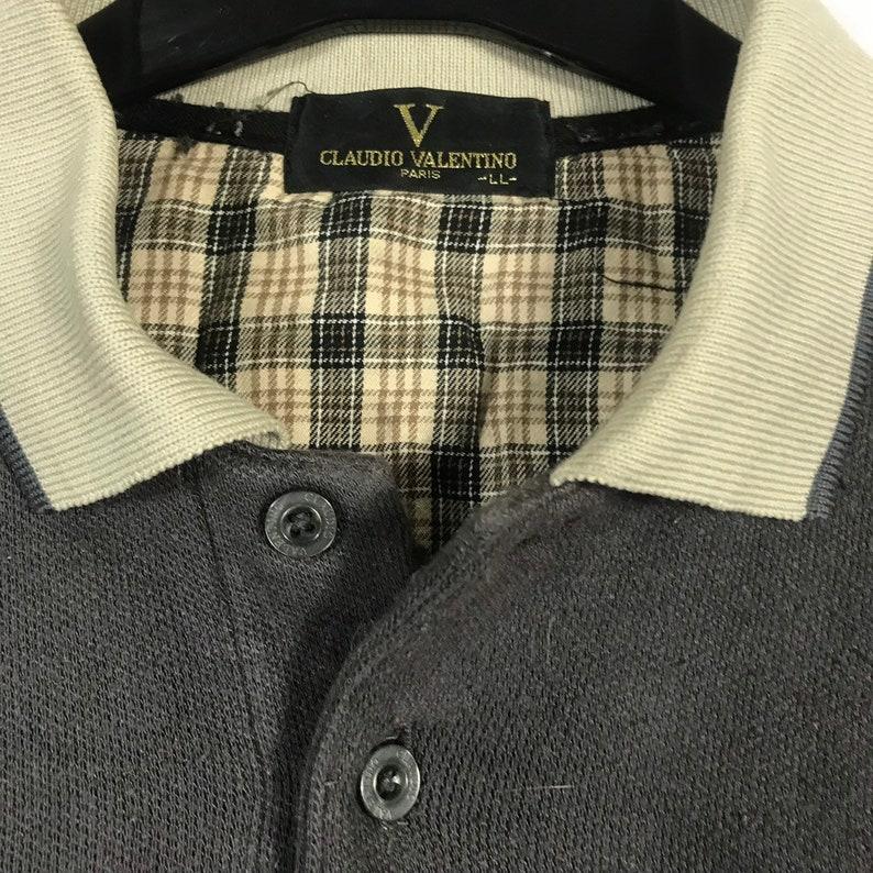 Rare vintage claudio velentino sweatshirts collar size large