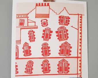 A4 Illustration Print   Abbeyhill