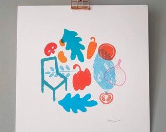 Illustration Print   Brunch
