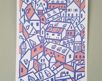 A4 Illustration Print   Dubrovnik