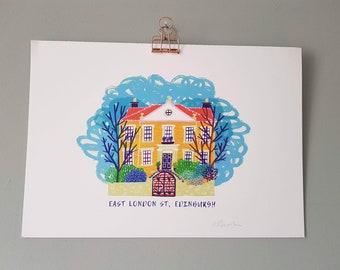 Illustration Print   East London Street