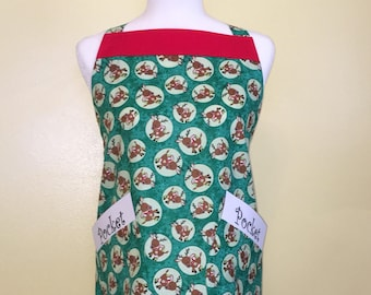 Reindeer 2-Pocket Chriatmas Apron
