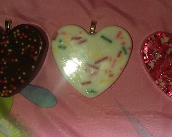 Sprinkle resin hearts