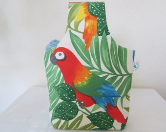 """""""Red parrot"""" nomad crochet knitting project bag size S"""
