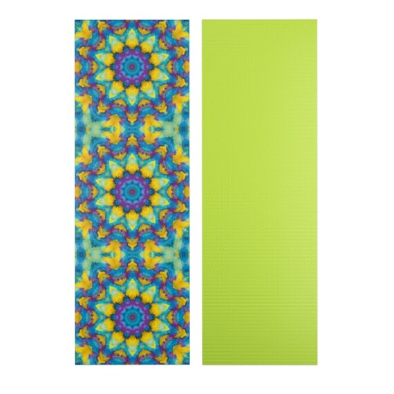 Colore Mandala Tapis Tapis De Meditation Mandala Tapis Yoga Yoga Mat