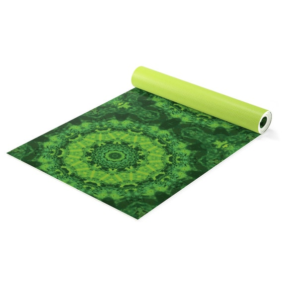 Tapis D Yoga Vert Mat Meditation Mandala Tapis Yoga Yoga Mat Cadeau