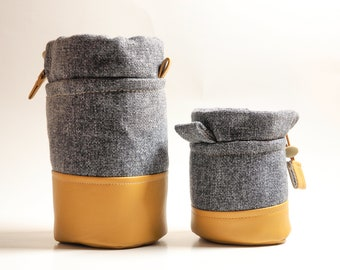 Camera Lens Case/Pouch/Bag/Sleeve/Protector/Cozy | Padded | Medium / Small | DSLR, Point and Shoot