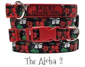 Personalized Dog Collar Leash Set - The Aloha 2