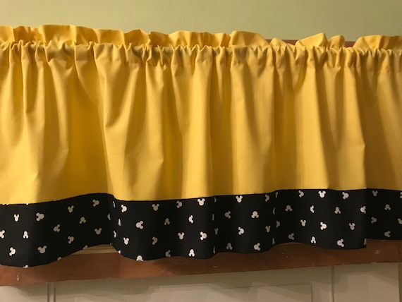 Mickey Mouse Valancekids Room Decorcurtains Etsy