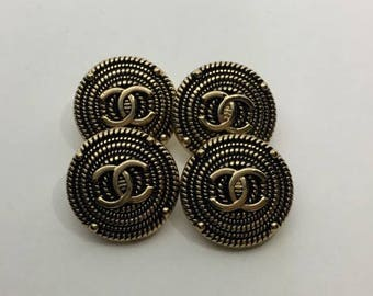 4 Chanel pretty Buttons Charm Pendant