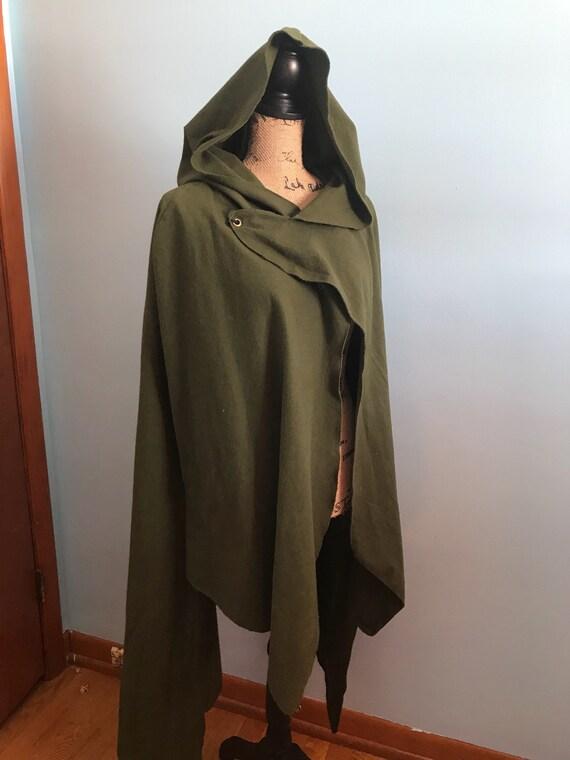 Hooded cloak short Cloak green cloak hooded cape link  f958f9d29