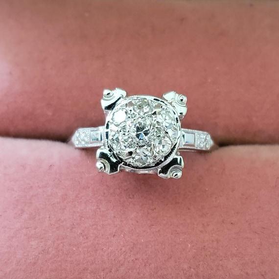 Art Deco Diamond  Ring/Diamond  Engagement  Ring