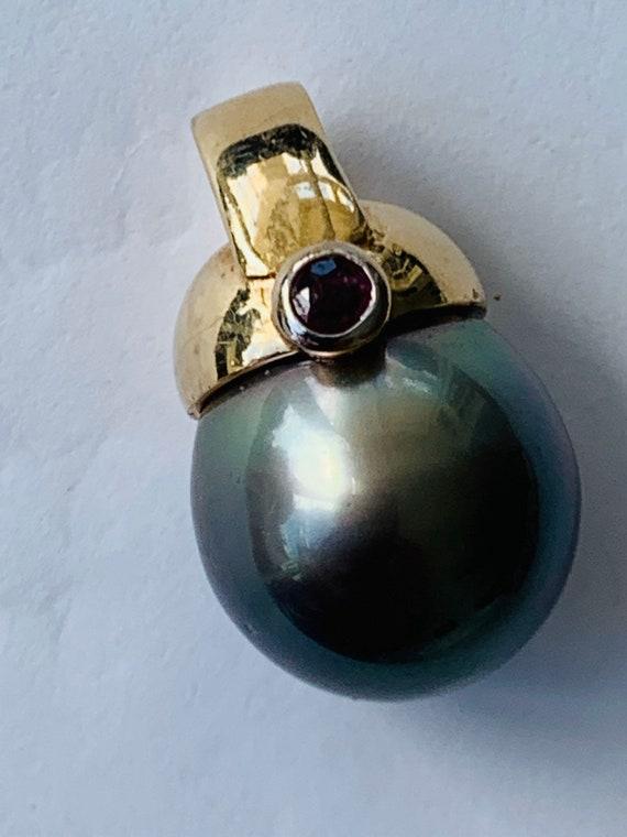 Tahitian pearl pendant|  Pearl Pendant |