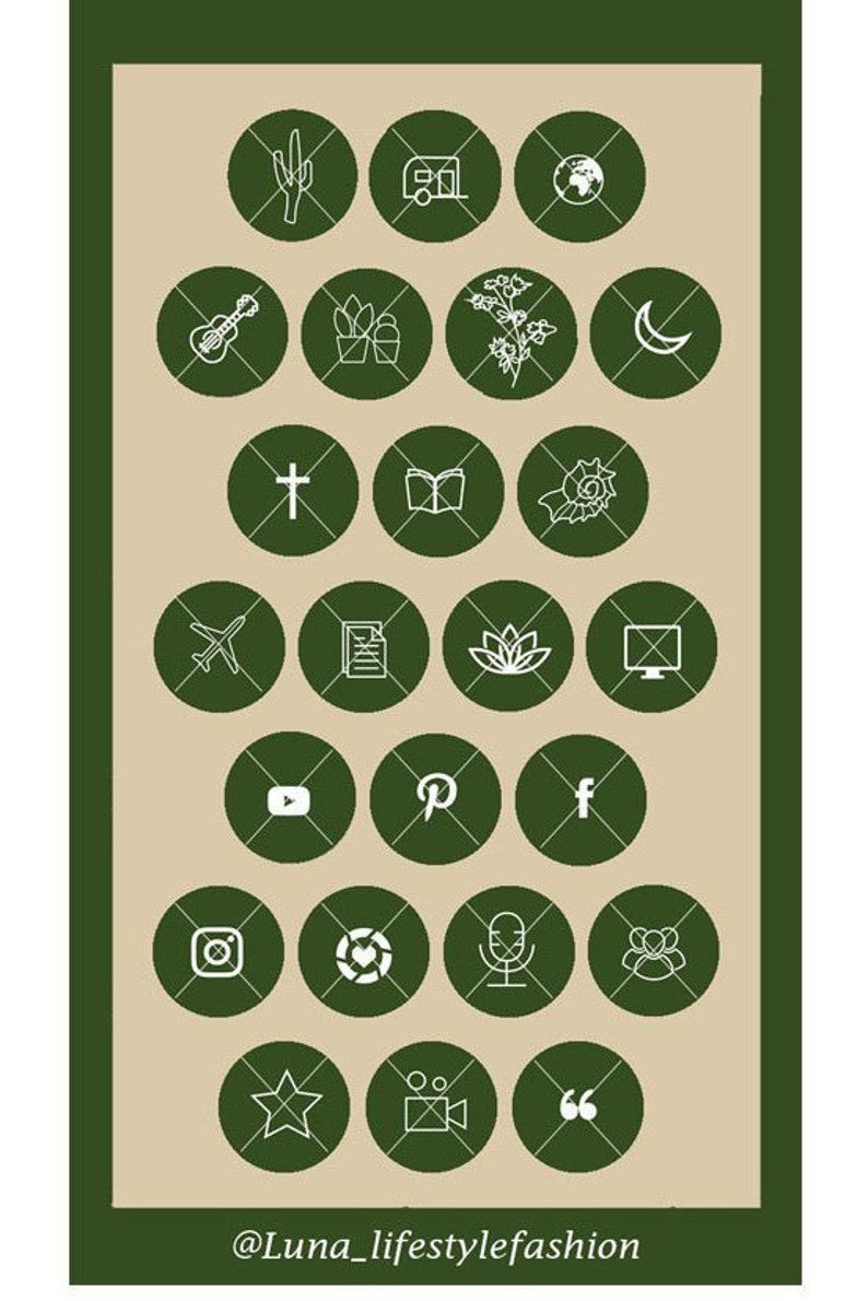 Green Boho Story Covers JPEG icons Highlight Icons 43 Nature Babe Instagram Highlight Covers