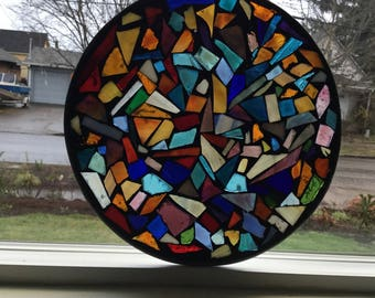 10 inch Multi Colors mosaic Stained Glass Suncatcher