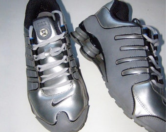 sports shoes bcea9 c7243 ... buy nike shox nz in silver and grey size uk 4.5 5 bced2 51ca8