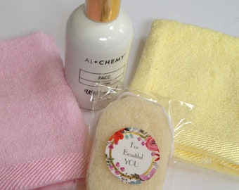 ALCHEMY PACK Cleanser,Wildcrafted Cleanser,Natural and Organic Skin Care,Bamboo Cloth,Konjac Sponge,Face Cloth,Green Tea Face Products,