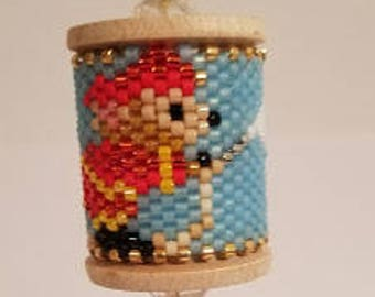 Fire Mouse Beaded Spool
