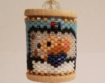Police Mouse Beaded Spool