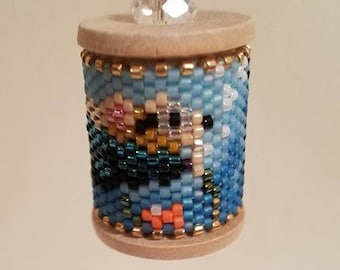 Diving Mouse Beaded Spool