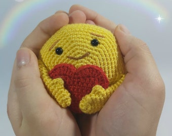CROCHET PATTERN for Love Emoji Amigurumi Plushy Bag Charm by Sugar ... | 270x340
