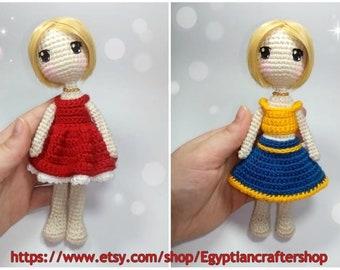 PDF Amigurumi Doll PATTERN, Crochet Snowgirl, DIY Doll, Christmas ... | 270x340