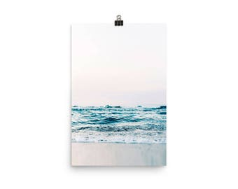 6c1f79cc Ocean Print, Ocean Wave Art Print, Print to Frame, Minimalist Ocean Print,  Modern Photography, Coastal Art, Seascape Print, Sea Wall Art